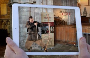 Photograph © jamcreativestudios Caption: An Agincourt Archer comes to life at Brecon Cathedral