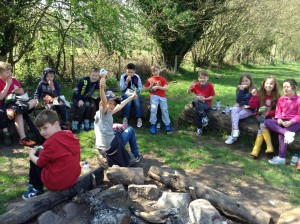 Crickhowell DYW log circle lunch