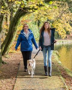 Dog walkers at Craig-y-nos Country Park © Bob Grainger Photography
