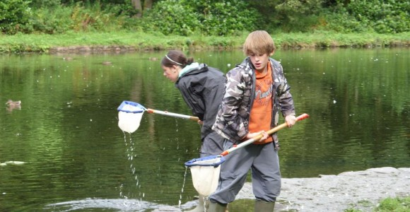 Pond dipping at Craig-y-nos Country Park